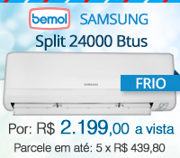 Bemol - Split 24000 Frio - Samsung