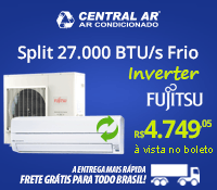 Central Ar - Split 27000 Frio Inverter - Fujitsu