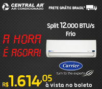 Central Ar - Split 12000 Frio Inverter - Carrier