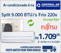 Central Ar - Split 9000 Frio Inverter - Fujitsu