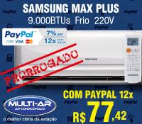 Multi-Ar - Split 9000 Frio - Samsung