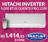 Multi-Ar - Split 9000 Quente / Frio - Hitachi