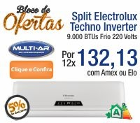 Multi-Ar - Split 9000 Frio Inverter - Electrolux