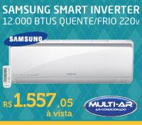 Multi-Ar - Split 12000 Quente / Frio Inverter - Samsung