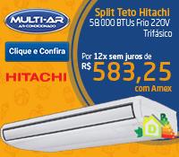 Multi-Ar - Split Piso Teto 58000 Frio - Hitachi