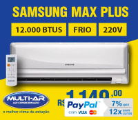 Multi-Ar - Split 12000 Frio - Samsung