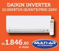 Multi-Ar - Split 12000 Quente / Frio Inverter - Daikin