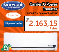 Multi-Ar - Split 18000 Quente / Frio Inverter - Carrier