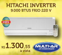 Multi-Ar - Split 9000 Frio Inverter - Hitachi
