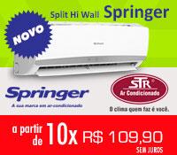 Str Ar Condicionado - Split 9000 a 22000 Frio e Quente / Frio - Springer
