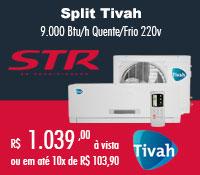 Str Ar Condicionado - Split 9000 Quente / Frio - Tivah