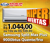 WebContinental - Split 9000 Quente / Frio - Samsung
