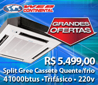 WebContinental - Split Cassete 41000 Quente / Frio - Gree