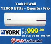 Web Continental - Split 12000 Quente / Frio - York