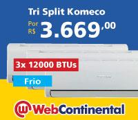 Web Continental - MultiSplit Tri 36000 Frio - Komeco