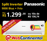Web Continental - Split 9000 Frio Inverter - Panasonic