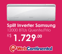 Web Continental - Split 12000 Quente / Frio Inverter - Samsung