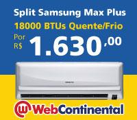 Web Continental - Split 18000 Quente / Frio - Samsung