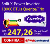 Web Continental - Split 18000 Quente / Frio Inverter - Carrier