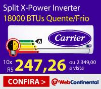 Web Continental - Split 18000 Quente / Frio Inverter - Carrier