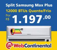 Web Continental - Split 12000 Quente / Frio - Samsung