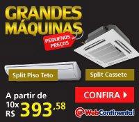 Web Continental - Split Piso Teto e Cassete