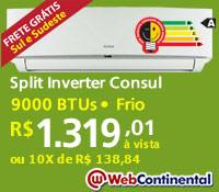 Web Continental - Split 9000 Frio Inverter - Consul