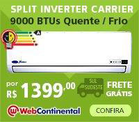 Web Continental -Split 9000 Quente / Frio Inverter - Carrier
