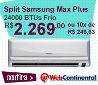 Web Continental - Split 24000 Frio - Samsung