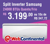 Web Continental - Split 24000 Quente / Frio Inverter - Samsung