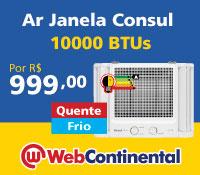 Web Continental - Ar Janela 10000 Quente / Frio - Consul