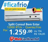Web Continental - Split 12000 Quente / Frio - Consul