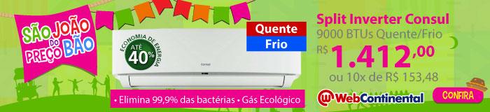 Web Continental - Split 9000 Quente / Frio Inverter - Consul